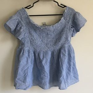 Smocked Striped Top
